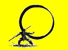 cercle baton fond jaune